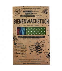 Bienenwachstuch Starterset (Small, Medium & Large) - 3 Stück - RapNika