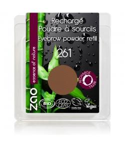 Nachfüller BIO-Augenbrauenpuder N°261 Aschblond - 3g - Zao Make-up