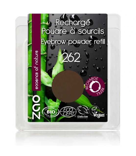Recharge Poudre à sourcils BIO N°262 Brun - 3g - Zao Make-up