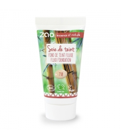 Recharge Fond de teint liquide BIO N°710 Pêche - 30ml - Zao Make-up