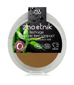 Recharge Fond de teint compact BIO N°736 Topaze - 6g - Zao Make-up