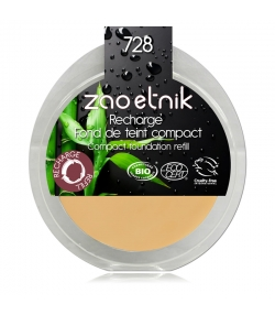 Recharge Fond de teint compact BIO N°728 Ocre - 6g - Zao Make-up