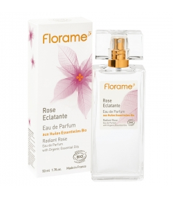 Eau de parfum BIO Rose Eclatante - 50ml - Florame