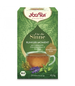 BIO-Kräutertee mit Lavendelöl, Rooibos & Zitronenmelisse - Ruhiger Moment - 20 Teebeutel - Yogi Tea