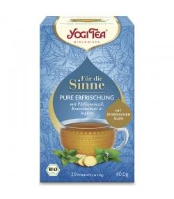 BIO-Kräutertee mit Pfefferminzöl, Krauseminzöl & Ingwer - Pure Erfrischung - 20 Teebeutel - Yogi Tea