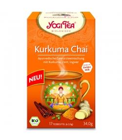 Infusion au curcuma, cannelle & gingembre BIO - Curcuma Chai - 17 sachets - Yogi Tea
