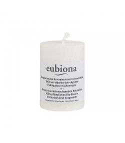 Bougie cylindrique blanche en stéarine BIO 56 x 80 mm - 1 pièce - Eubiona