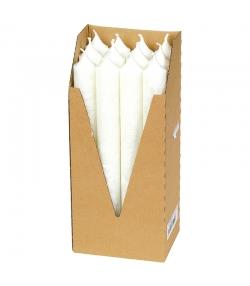 Stabkerzen Weiss aus BIO-Stearin 22 x 210 mm - 12 Stück - Eubiona