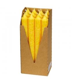 Stabkerzen Gelb aus BIO-Stearin 22 x 210 mm - 12 Stück - Eubiona