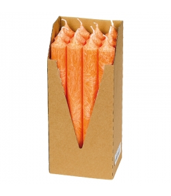 Stabkerzen Orange aus BIO-Stearin 22 x 210 mm - 12 Stück - Eubiona