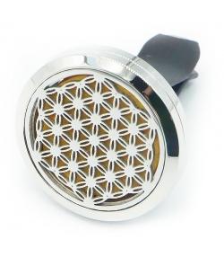 Diffuseur pour voiture d'huile essentielle Cliparôme fleur de vie - Zen Arôme