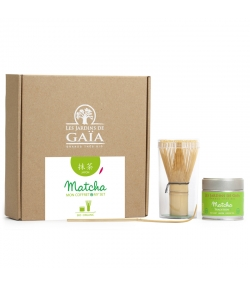 Coffret cadeau BIO Matcha - Les Jardins de Gaïa