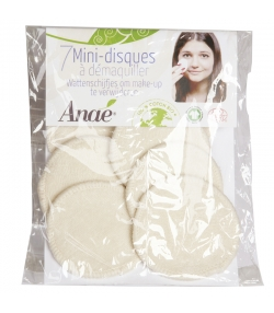 Waschbare Mini Pads zum Abschminken aus Bio-Baumwolle  - 7 Stück - Anaé