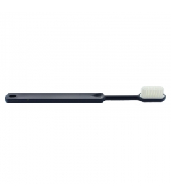 Zahnbürste aus Bioplastik mit auswechselbarem Bürstenkopf Marineblau Soft Nylon - 1 pièce - Caliquo