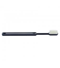 Brosse à dents en bioplastique à tête rechargeable Bleu marine Medium Nylon - 1 pièce - Caliquo