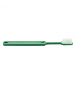 Brosse à dents en bioplastique à tête rechargeable Vert Medium Nylon - 1 pièce - Caliquo