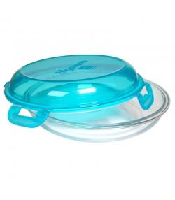 Assiette repas hermétique en verre avec couvercle en plastique - 1 pièce - ah table !