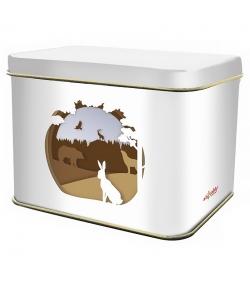 """Boîte en fer blanc rectangle """"biodiversité forêt"""" - 1 pièce - ah table !"""