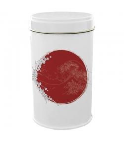 """Boîte en fer blanc ronde """"Japon vague"""" - 1 pièce - ah table !"""