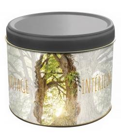 """Boîte en fer blanc ronde """"voyage intérieur arbre"""" - 1 pièce - ah table !"""