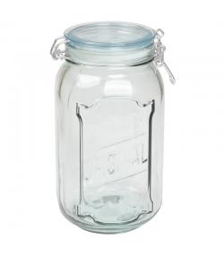 Hermetischer Topf aus recyceltem Glas 1,9l mit Plastikdeckel - 1 Stück - ah table !