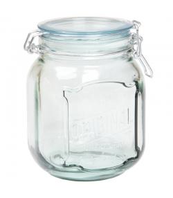 Hermetischer Topf aus recyceltem Glas 1,1l mit Plastikdeckel - 1 Stück - ah table !