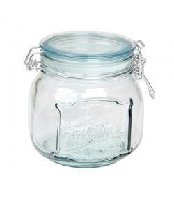 Pot hermétique en verre recyclé 800ml avec couvercle en plastique - 1 pièce - ah table !
