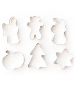 """6 découpoirs """"pâtisserie assortis"""" en fer blanc - 6 pièces - ah table !"""