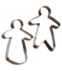 """2 découpoirs """"madame et monsieur"""" en fer blanc - 2 pièces - ah table !"""