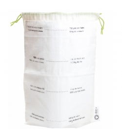 Wiederverwendbare Säcke mit Massangabe aus Bio-Baumwolle - Grösse M - 1 Stück - ah table !