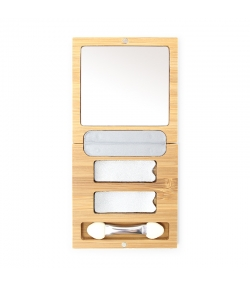 Bamboo Box Duo leer & Applikator - 1 Stück - Zao Make-up