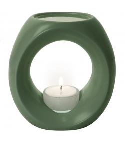 Teelicht-Duftlampe Waldgrün matt für ätherische Öle - Primavera