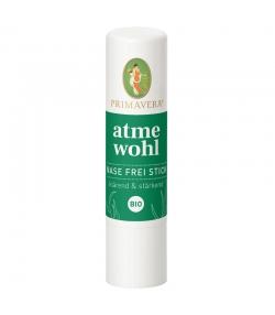 Stick inhalateur nez dégagé Confort respiratoire BIO eucalpytus & menthe poivrée - 10ml - Primavera