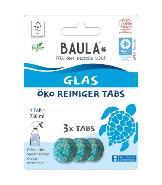 Pastilles nettoyantes vitres écologiques Fresh Ocean - 3 pastilles - Biobaula
