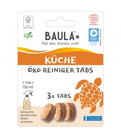 Pastilles nettoyantes cuisine écologiques Citrus - 3 pastilles - Biobaula