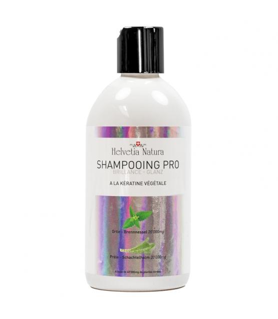 BIO-Shampoo Glanz Brennnessel, Schachtelhalm & pflanzliches Keratin - 500ml - Helvetia Natura