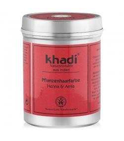 BIO-Pflanzenhaarfarbe Henna & Amla - 150g - Khadi