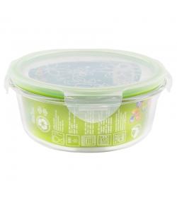 Runde Lunch Box aus Glas mit Deckel aus Plastik - 980ml, 1 Stück - Dora's