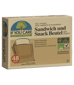 Ökologische Sandwich & Snack Beutel aus Papier - 48 Stück - If You Care