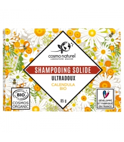 Shampooing solide ultra doux BIO calendula - 85g - Cosmo Naturel
