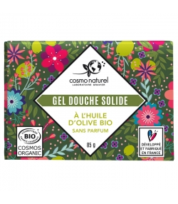 Gel douche solide BIO huile d'olive - 85g - Cosmo Naturel