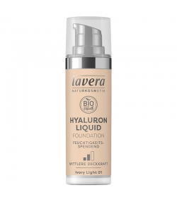 BIO-Make-up Liquid Hyaluron N°01 Ivory Light - 30ml - Lavera