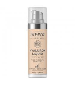Fond de teint liquide Hyaluron BIO N°01 Ivory Light - 30ml - Lavera