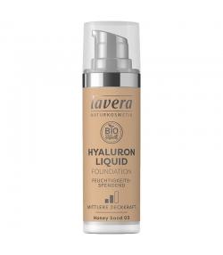 Fond de teint liquide Hyaluron BIO N°03 Honey Sand - 30ml - Lavera