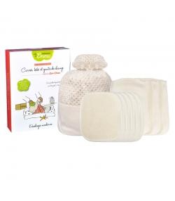 Kit Eco Chou Mini Coton écologique - 10 carrés bébé, 5 gants de change & filet de lavage - Les Tendances d'Emma