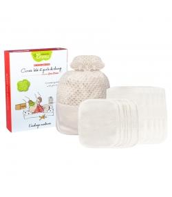 Kit Eco Chou Mini Eucalyptus écologique - 10 carrés bébé, 5 gants de change & filet de lavage - Les Tendances d'Emma