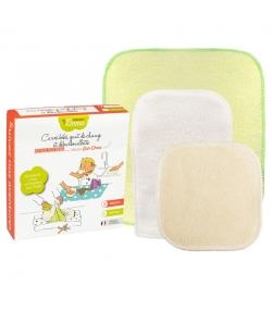 Kit Eco Test Bébé écologique - 1 carré bébé , 1 gant de change & 1 débarbouillette - Les Tendances d'Emma