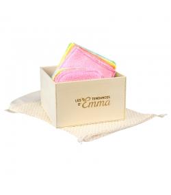 Kit Eco Chou Bambou Couleur écologique - 10 carrés bébé, 10 gants de change, boîte & filet de lavage - Les Tendances d'Emma