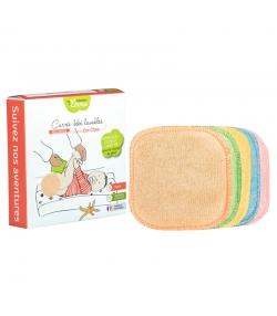 Ökologische waschbare quadratische Babytüchlein aus farbigem Bambus - 5 Stück - Les Tendances d'Emma