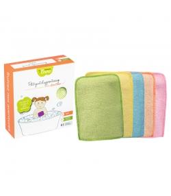 Ökologische kleine waschbare Lernwaschhandschuhe aus farbigem Bambus - 5 Stück - Les Tendances d'Emma